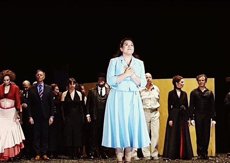 Adriana González, como Micaela en Carmen, en Suiza (Foto Prensa Libre: Facebook / Adriana González).