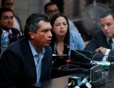 Gustavo Martínez, yerno de Otto Pérez Molina y exsecretario general de la Presidencia, durante la audiencia de primera declaración del caso. (Foto Prensa Libre: Hemeroteca PL)