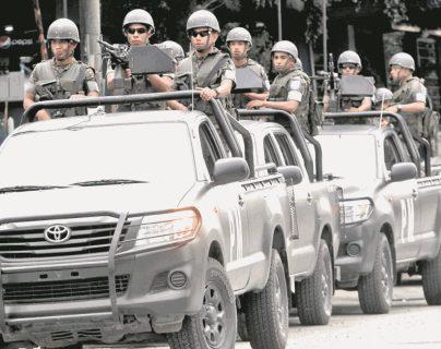 En la Fuerza de Tarea Xinca participa Ejército, el grupo cuenta con el apoyo del Ministerio Público para combatir el crimen organizado. Foto Prensa Libre: Hemeroteca PL.)