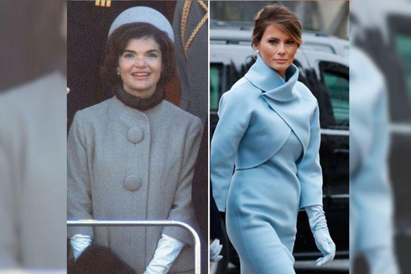 Melania Trump imita el estilo de Jackie Kennedy en toma de posesión