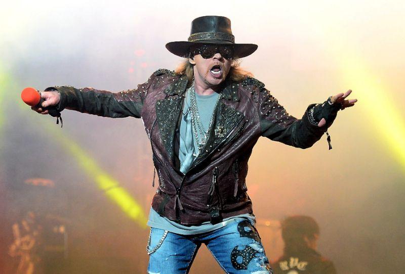 Axl Rose, vocalista de Guns N' Roses, volvió a criticar la administración de Donald Trump (Foto Prensa Libre: AFP).