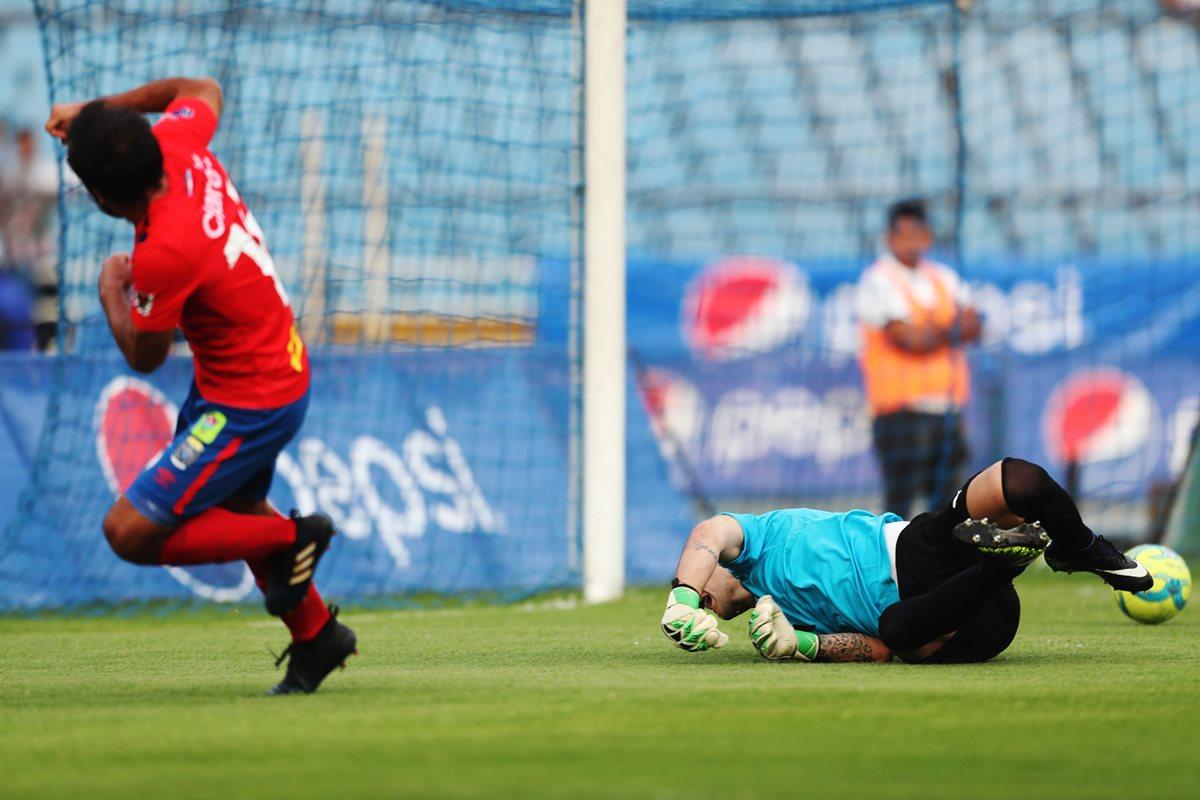 Gastón Puerari fue el anotar del único gol en el Clásico 302. (Foto Francisco Sánchez)