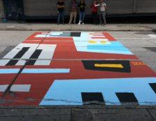 Réplica de la obra de González Goyri terminada por los artistas. (Foto Prensa Libre: cortesía: Rafael López)