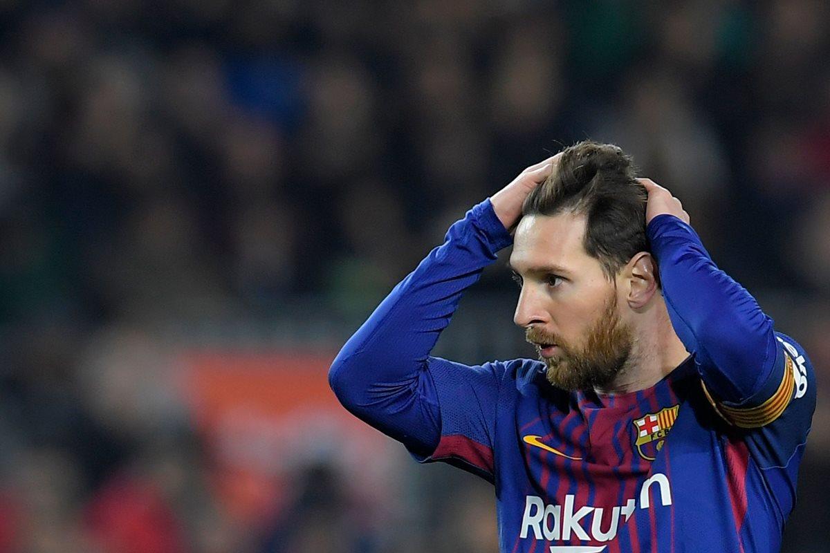 Lionel Messi, el crack del Barcelona, afrontará dos amistosos en marzo con la selección de Argentina. (Foto Prensa Libre: AFP)