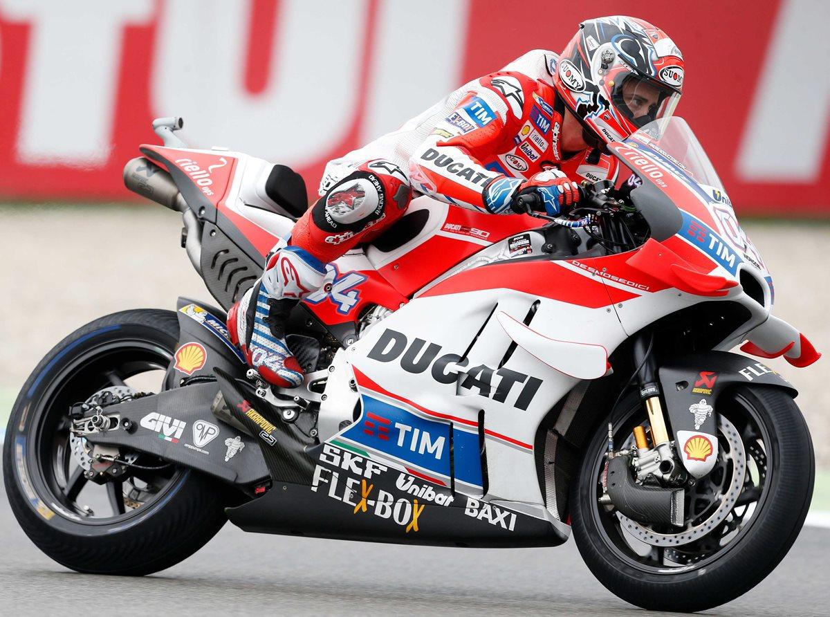 Ni Rossi, ni Márquez ni Lorenzo; Dovizioso gana la pole en Holanda