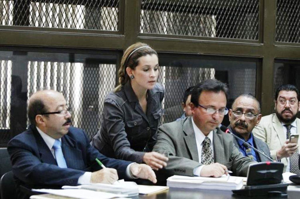 Ana Sofía Castañeda Deras, durante un audiencia. (Foto Prensa Libre: Hemeroteca PL)