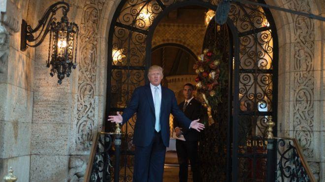 Trump tiene un búnker bajo Mar-a-Lago, su residencia en Florida, pero éste no tiene que ver con su rol de presidente. GETTY IMAGES