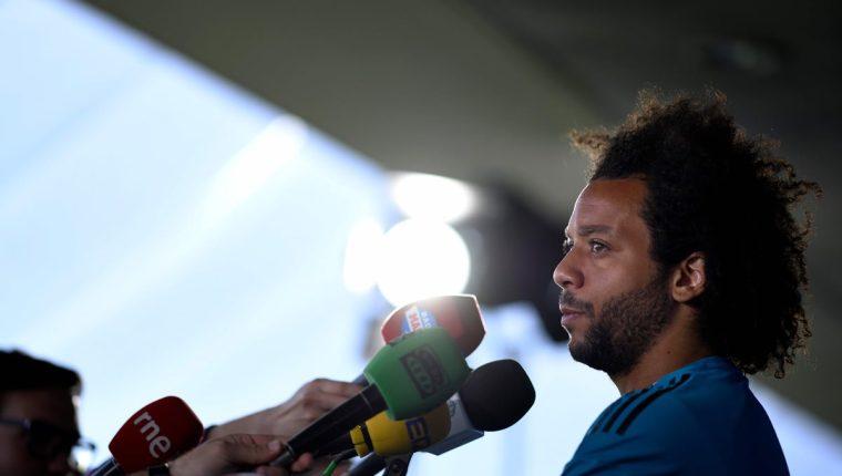 El brasileño Marcelo, lateral del Real Madrid, habló de la final de la Champions contra el Liverpool. (Foto Prensa Libre: AFP)