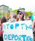 Guatemaltecos protestan por las deportaciones en EE. UU. (Foto Prensa Libre: Hemeroteca PL)