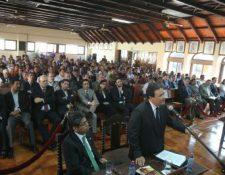 Vista pública en donde los cafetaleros presentaron sus argumentos por el control de Anacafé. (Foto Prensa Libre: Esbin García).