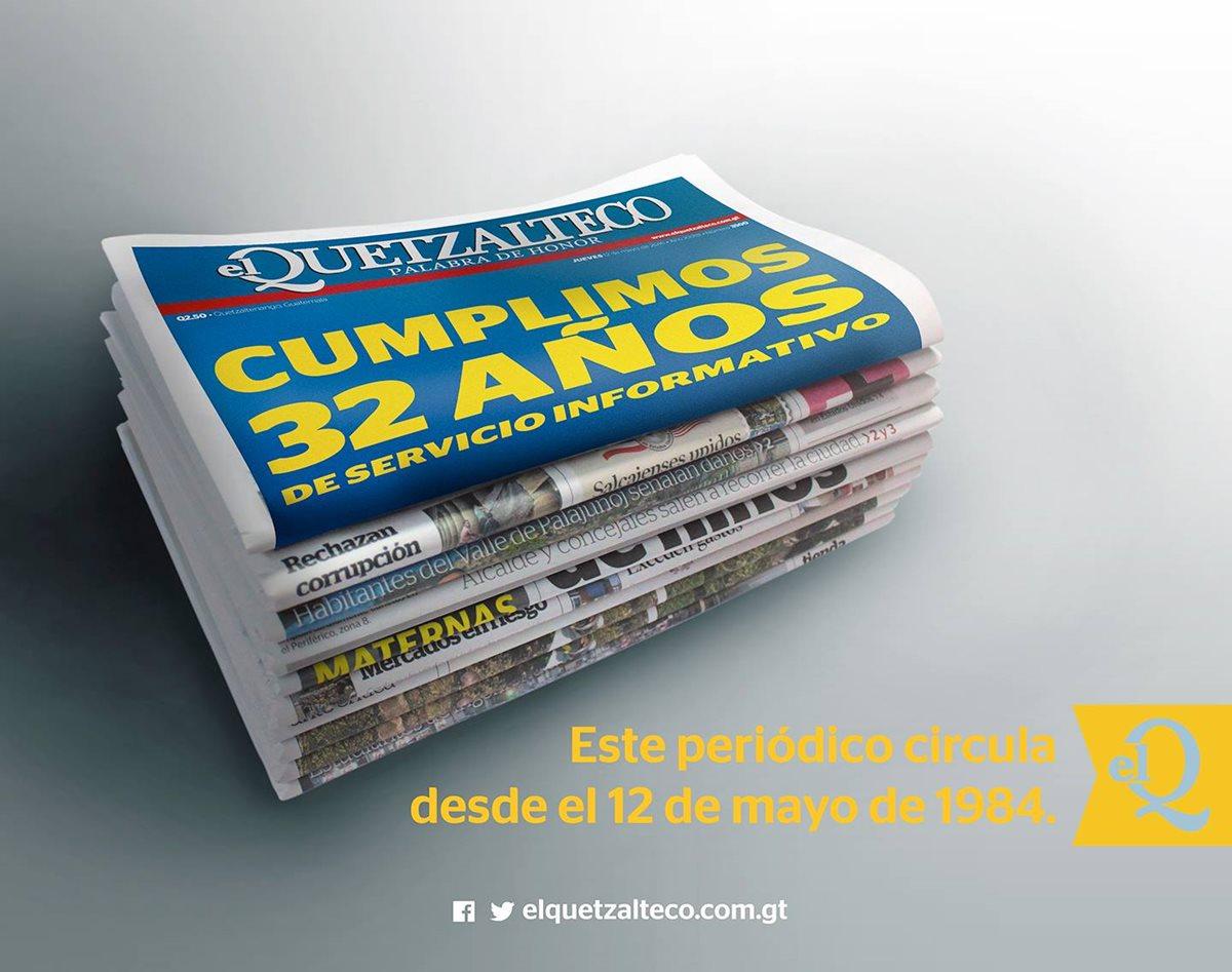 El Quetzalteco cumple 32 años de informar