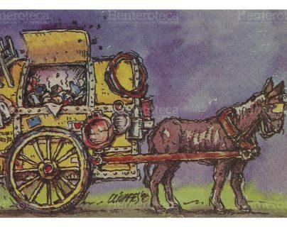 Ilustración en honor a las mulas, caballos y asnos que fueron utilizados para la extracción de basura. (Foto: Hemeroteca PL)