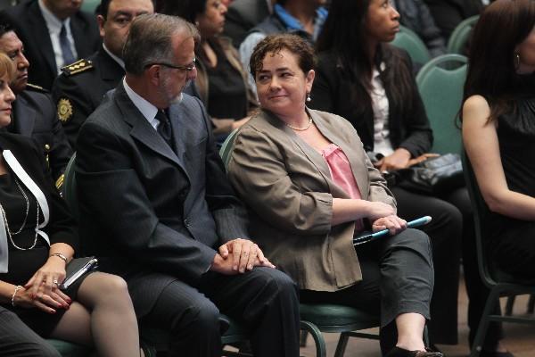"""Iván Velásquez, jefe de la Cicig, junto a Claudia Paz y Paz, fiscal general del Ministerio Público (Foto Prensa Libre: E. García)<br _mce_bogus=""""1""""/>"""