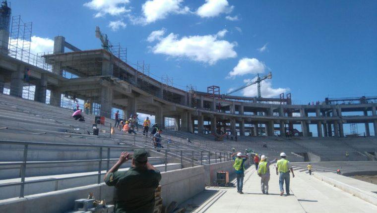 Las construcciones de las instalaciones que albergarán los Juegos Centroamericanos están listas en un 70 por ciento. (Foto Prensa Libre: Twitter La Nueva Radio YA)