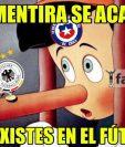 Chile fue la víctima en las redes sociales, después de perder la final contra Alemania. (Foto Prensa Libre: Twitter)