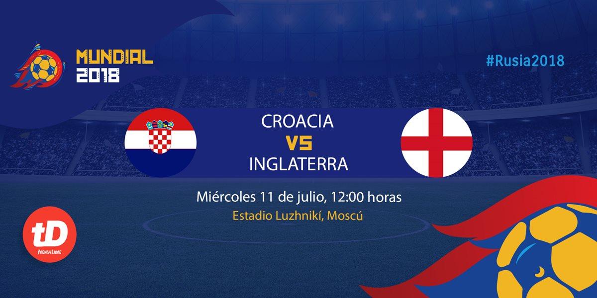 Croacia e Inglaterra disputan el último boleto hacia la final del Mundial. (Foto Prensa Libre: TodoDeportes)