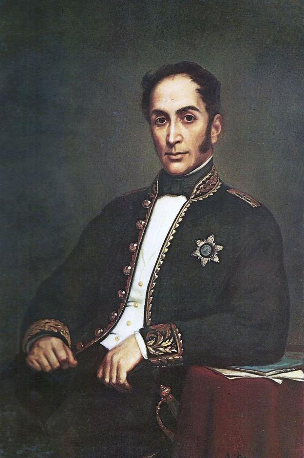 Militar liberal y líder político venezolano, Simón Bolívar fue uno de los primeros en luchar por la descolonización de la América española. (Colección del Banco Nacional de Venezuela)