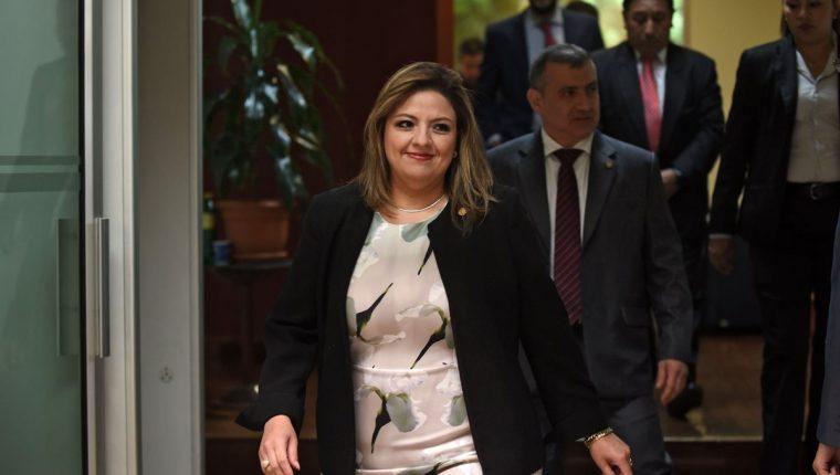 Sandra Jovel, ministra de Relaciones Exteriores. (Foto Prensa Libre: AFP)
