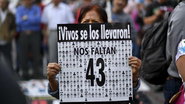 La desaparición de 43 estudiantes en Iguala, Guerrero, sigue sin resolverse. GETTY IMAGES