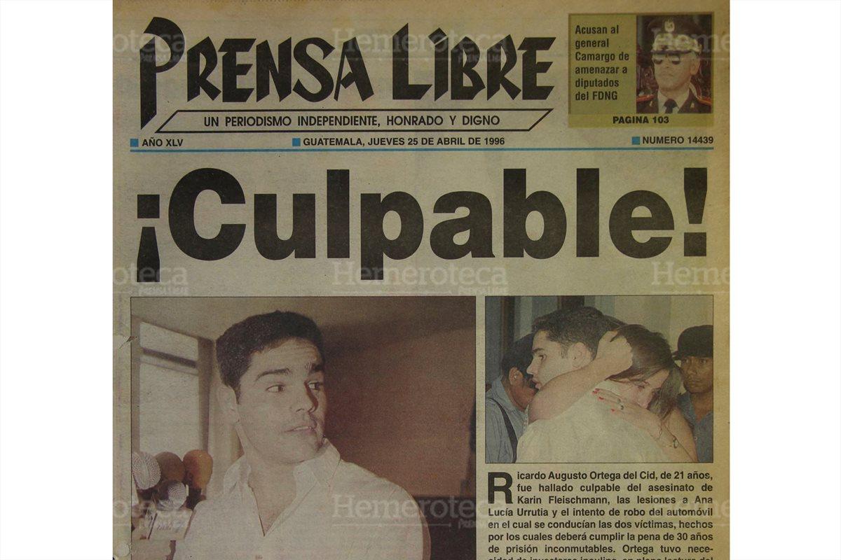 1996: Treinta años de cárcel por muerte de joven
