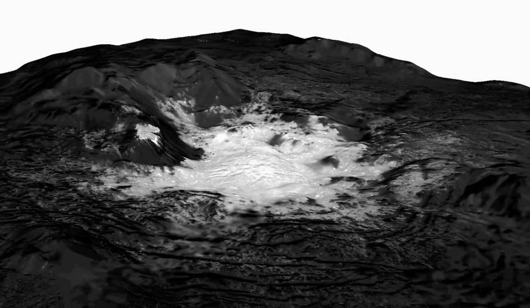 Los extraños volcanes que arrojan hielo en Ceres, el planeta enano más pequeño del Sistema Solar