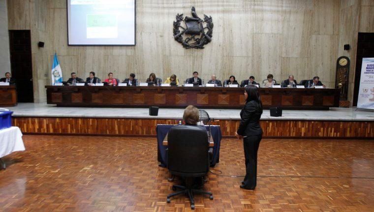 Magistrados de la CSJ electos para el periodo 2014-2019 (Foto Prensa Libre: Hemeroteca PL)