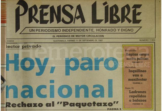 1987: Paro nacional por rechazo a impuestos