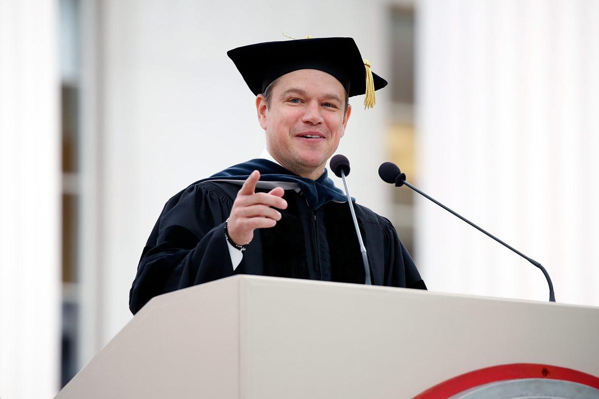 Este consejo le dio Matt Damon a los graduandos del MIT