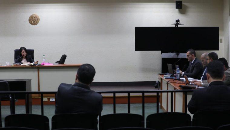 """La audiencia en el caso de corrupción conocido como """"Construcción Corrupción"""" se realizo en la mega sala. (Foto Prensa Libre: Estuardo Paredes)"""