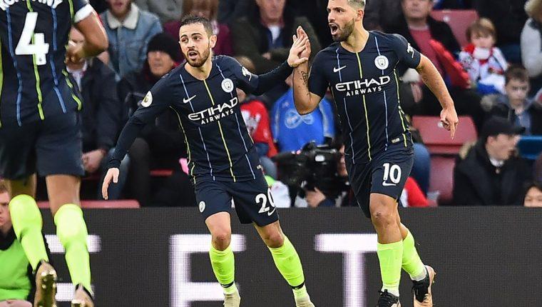 El Mánchester City recuperó el pulso competitivo tras ganar en el estadio St. Mary's al Southampton (1-3) para recuperar el segundo puesto de la Premier inglesa en su último partido del año (Foto Prensa Libre: AFP)