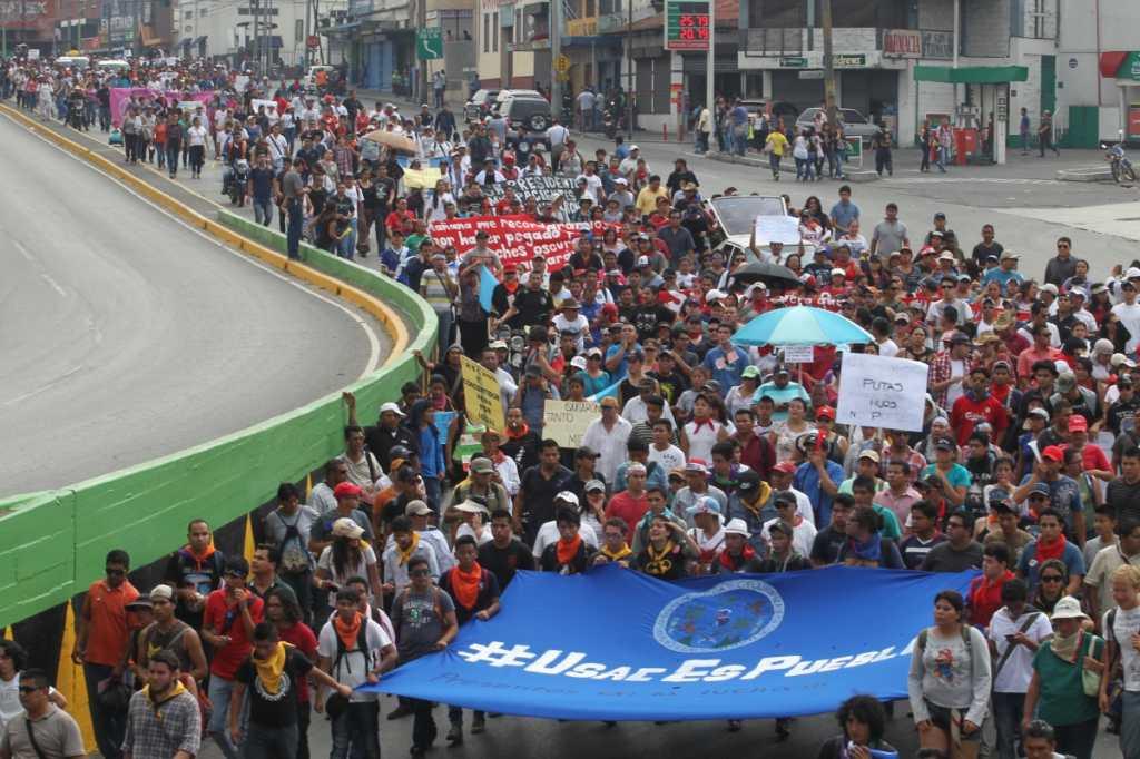 Los estudiantes de la Universidad de San Carlos respondieron en masa al llamado.