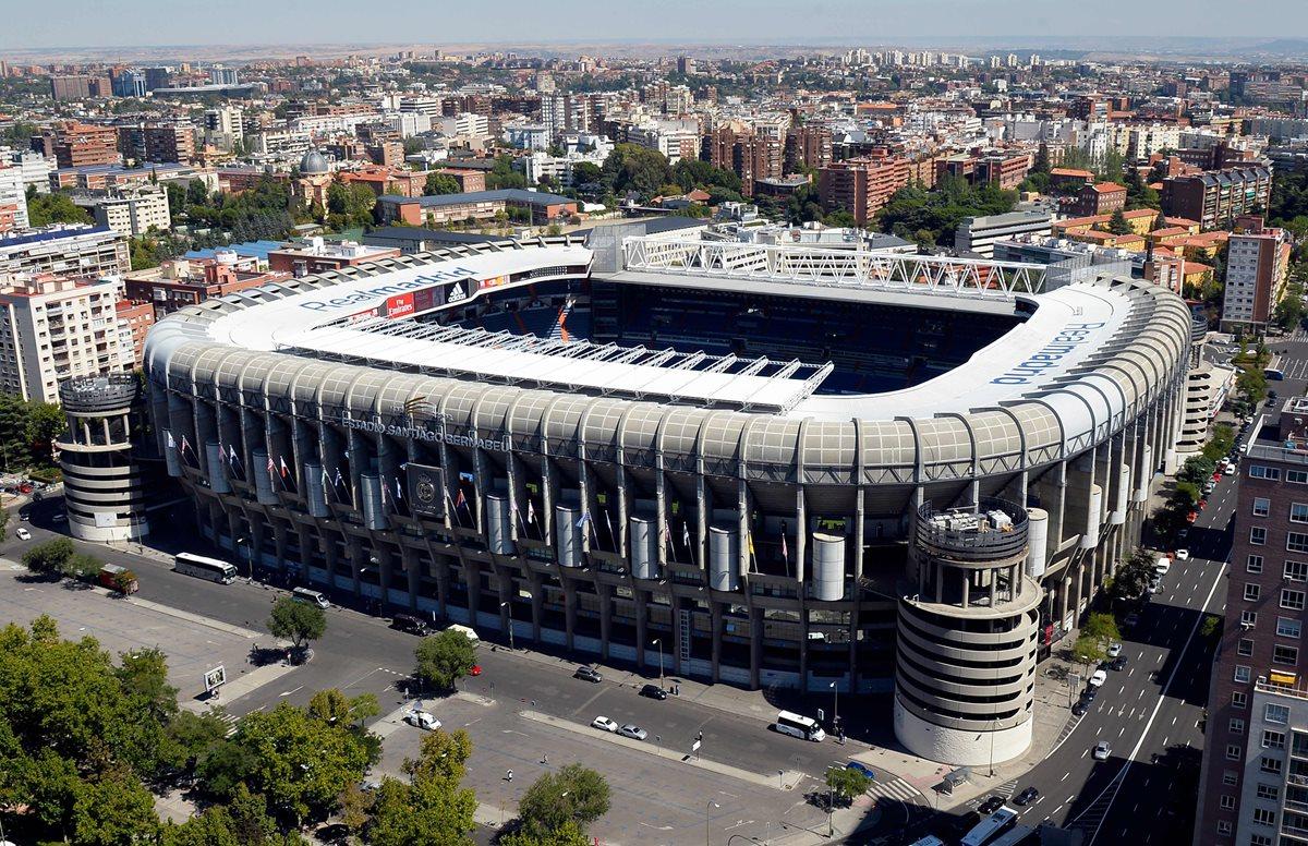 El estadio Santiago Bernabéu será la sede de la final de la Copa Libertadores. (Foto Prensa Libre: AFP)