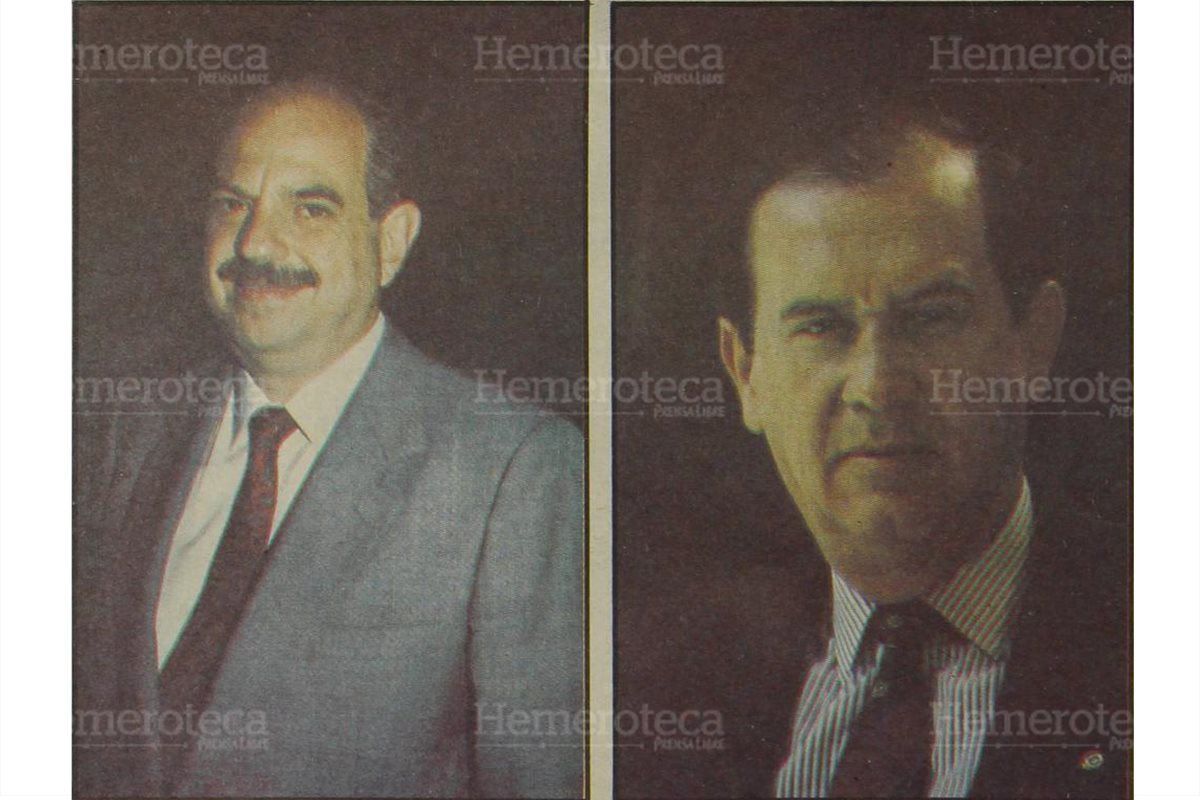 """Jorge Serrano y Jorge Carpio, los dos """"Jorges"""" en contienda por la Presidencia en noviembre de 1990. (Foto: Hemeroteca PL)"""