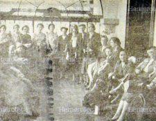 Grupo de mujeres de la sociedad guatemalteca de 1955 (Foto: Hemeroteca PL)