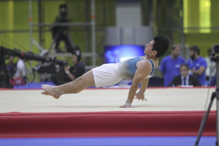 Jorge Vega recibió una puntuación de 14.425, que le dio la insignia de oro en Barranquilla 2018. (Foto Prensa Libre: Cortesía ACD)