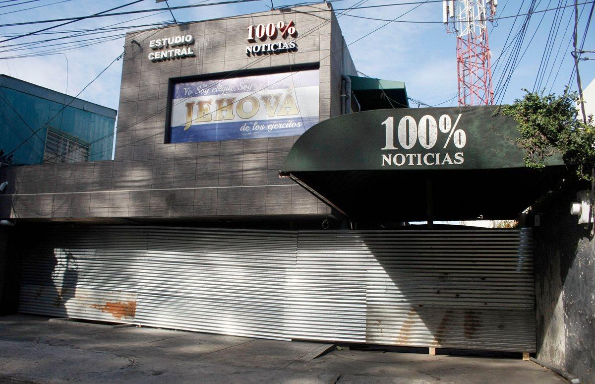 El canal de cable 100% Noticias, propiedad de Miguel Mora, fue clausurado el viernes por las fuerzas de seguridad del Gobierno de Nicaragua. (Foto, Prensa Libre: AFP).
