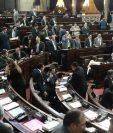 Diputados en sesión plenaria. (Foto Prensa Libre: Alvaro Interiano)