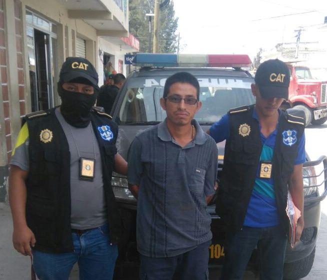 Werner Rafael Francisco es sindicado de la muerte de un hombre. (Foto Prensa Libre: PNC).