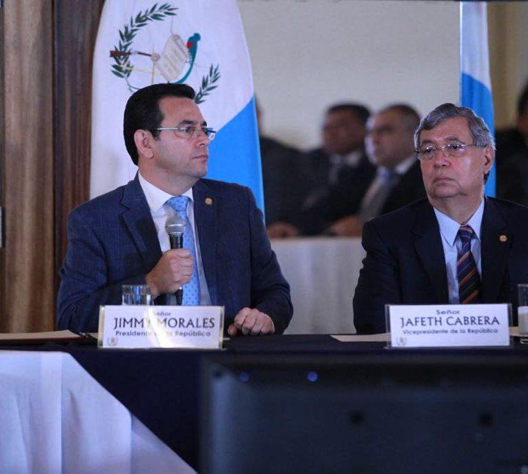 Cuatro solicitudes de antejuicio han sido interpuestas en contra del presidente Jimmy Morales. (Foto Prensa Libre: Presidencia)