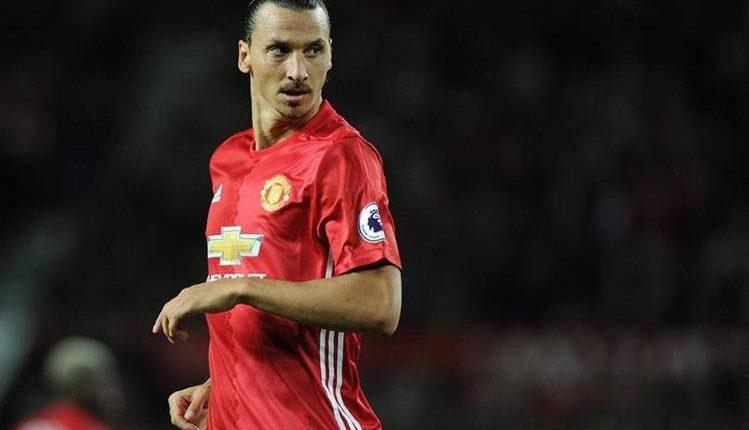 El sueco Zlatan Ibrahimovic tiene cuatro meses de contrato con el Manchester United. (Foto Prensa Libre: Hemeroteca PL)