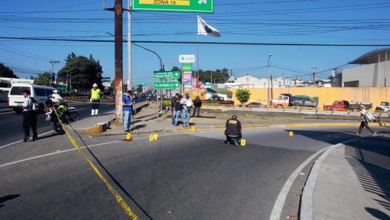 Simón Velásquez  Pérez agente de la Policia Municipal de transito PMT, fue atacado a tiros en la entrada a la colonia San Rafael zona 18 .