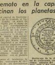 Este apartado del Horóscopo publicado el 27 de enero de 1976 pronosticaba terremotos para la capital. (Foto: Hemeroteca PL)