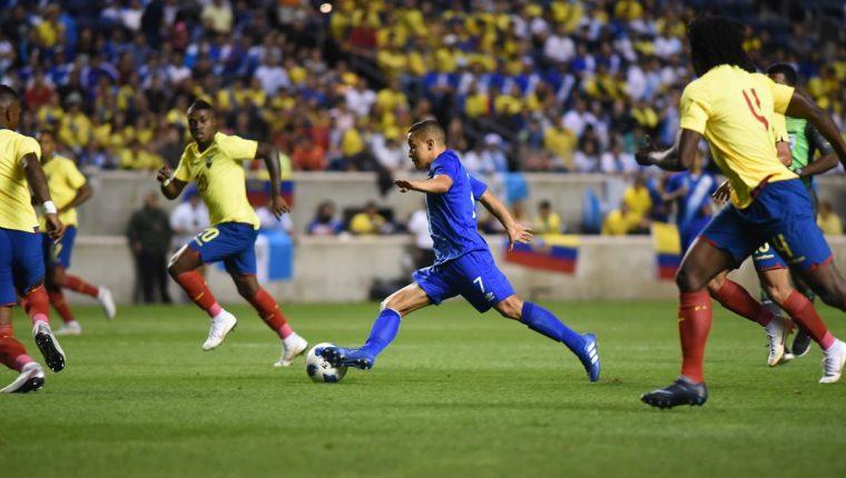 Marvin Ceballos fue uno de los mejores jugadores en la Selección de Guatemala. (Foto Prensa Libre: Wilfredo Girón)