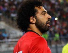 Mohamed Salah tuvo un partido lleno de emociones con Egipto. (Foto Prensa Libre: Twitter: @Pharaohs)