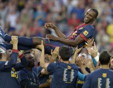 Éric Abidal se vinculará ahora al Barcelona ahora en la parte administrativa deportiva. (Foto Prensa Libre: AFP)