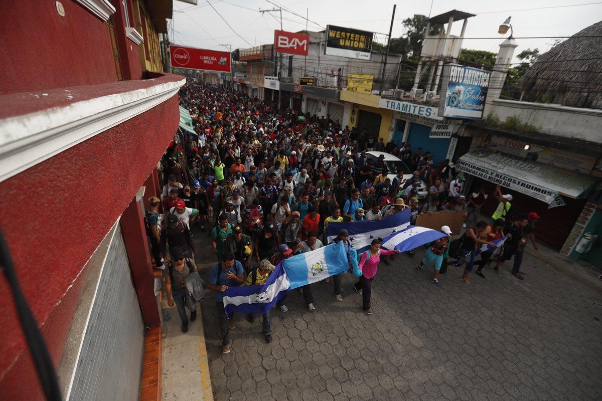 La segunda caravana de migrantes  hondureños se organizó esta mañana para pasar hacia la frontera con México.