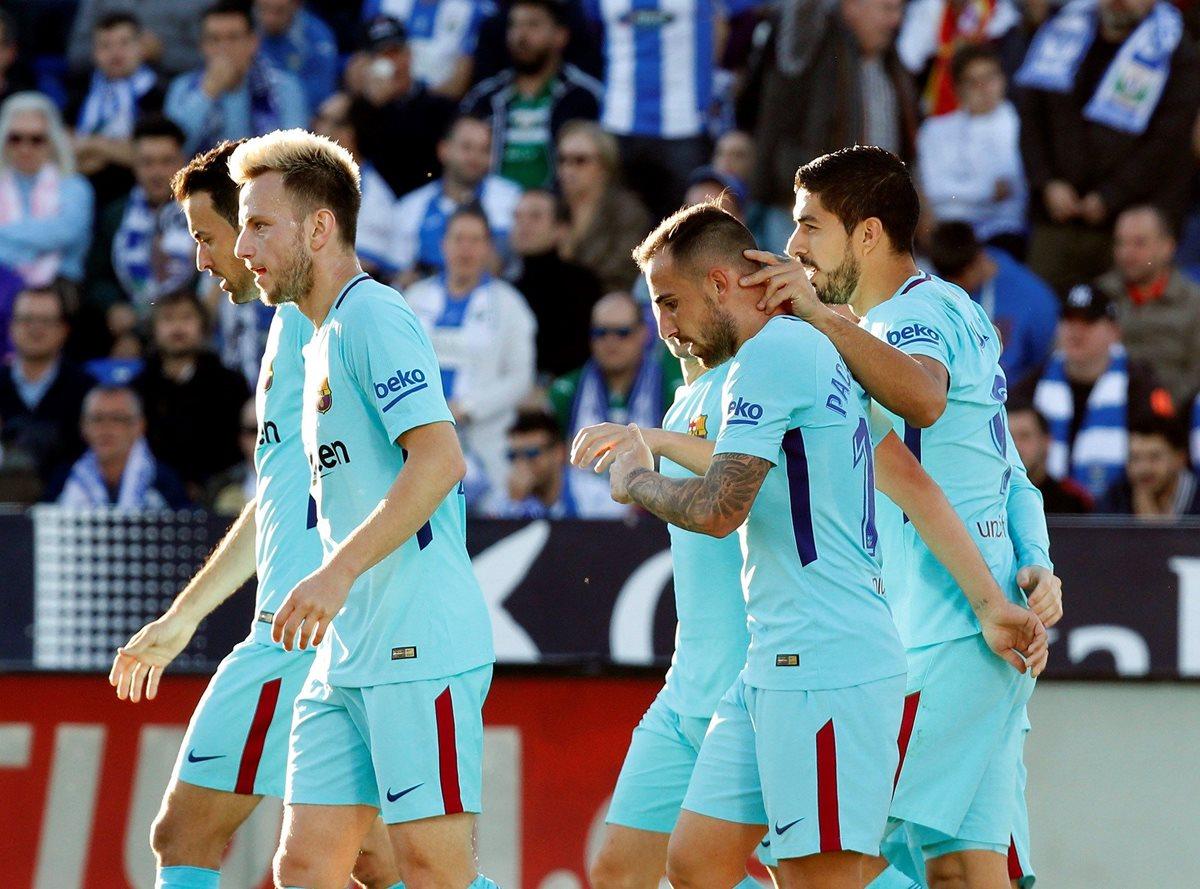 """""""El Pistolero"""" se reencontró con el gol esta tarde en Butarque y el Barcelona goleó al Leganés. (Foto Prensa Libre: EFE)"""
