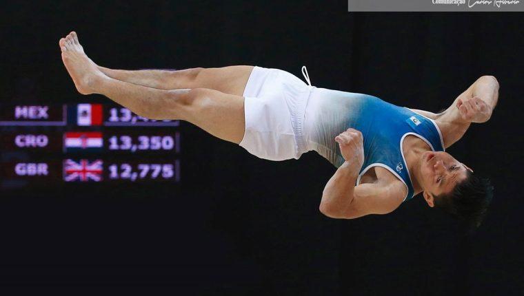 Jorge Vega sigue demostrando su calidad y hoy fue segundo en la final de salto. (Foto Prensa Libre: Federação de Ginástica de Portugal).