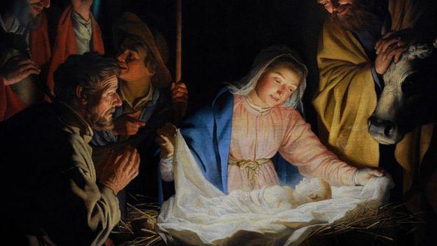 El niño Jesús con el cabello rizado podría haber inspirado unas líneas del villancico. (GETTY IMAGES)