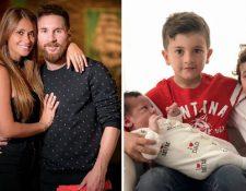 Lionel Messi junto a sus seres queridos en las fotografías familiares que publicó Antonella Rocuzzo. (Foto Prensa Libre: Instagram antoroccuzzo88)